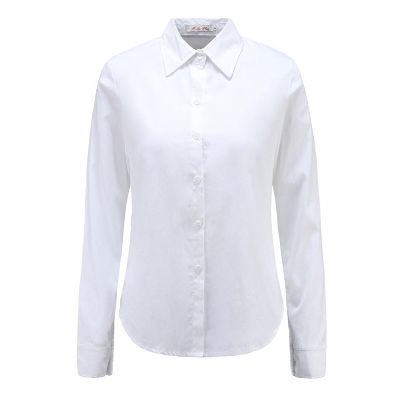 Moda Jihan New Women Blouses & Shirts Turn Down Collar Long Sleeve Female Shirts 100% Cotton Soft Clothing Female Tops Blusas