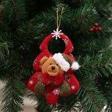 Christmas Doll Pendant Non-Woven Fabric Santa Claus Elk Pendant Snowman Festival Enfeites Natal For The Family