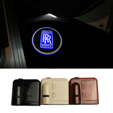 2X Wireless LED Car Door Welcome Light RR Logos LED Car Laser Projector Logo Ghost Shadow Light For Rolls Royce Logo Projectors