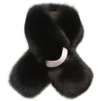 FXFURS Korean Style Winter Women Fur Scarf Real Fox Fur Scarves Warm Neck Fur Collar Shawl New Fur Fashion Accessories