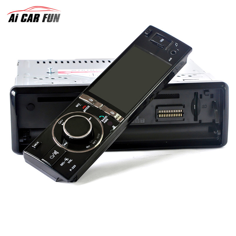 3 Inch Digital Screen Removable Panel Car DVD Bluetooth V2.0 High Definition 1DIN Car DVD Player Support SD Card without Camera 10pcs lot oem syta dvb t car set top box high definition digital media player twin tuners special design for car