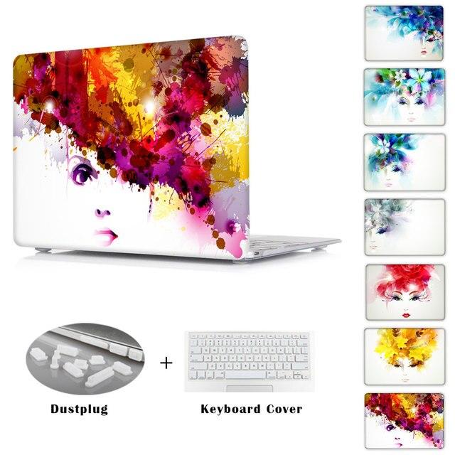 Красивые Bbstract Женщин Crystal Clear Чехол Для MacBook Pro Retina 13 15 и новый MacBook 12 Футляр Чехол Для Воздуха 11 13 Крышка