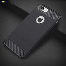 Cytao Silicone Case For iphone 7 8 Plus 6S 6 5S iphone X Cases Carbon Fiber Soft TPU Cover Fitted Conque Case For iphone 6S Plus carbon fiber leather coated soft tpu case shell for iphone 6s 6 4 7 inch dark blue