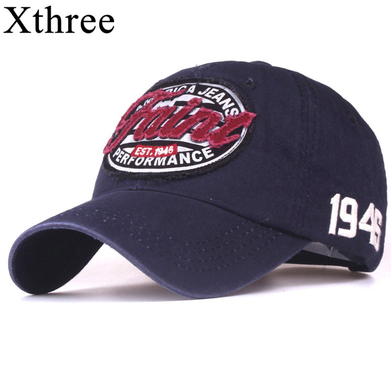 Xthree new Letter embroidery baseball cap men cotton casual cap snapback hat for women casquette gorras xthree men baseball cap fitted cap cotton snapback hat for women gorras casual casquette embroidery letter cap retro cap