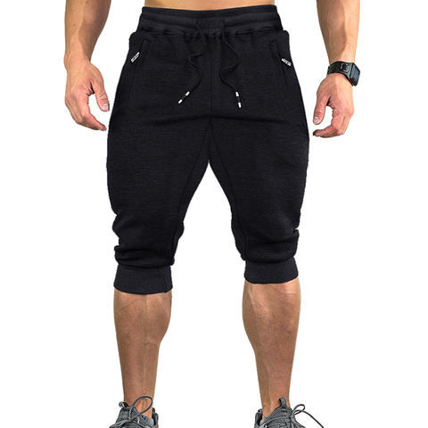 TACVASEN Sweatpants Sports Shorts For Men Gym Shorts With Pockets Sports Trousers Male Training Exercise Shorts Sportswear Lahore