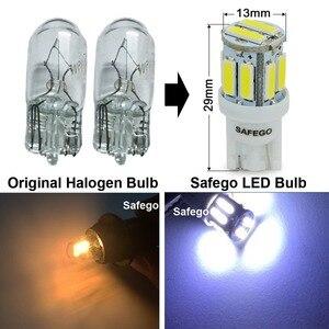 Image 2 - Safego 4x T10 W5W LED 電球 10 7020 SMD 194 168 2825 T10 ウェッジ交換ライト T10 白信号トランクダッシュボード駐車ランプ
