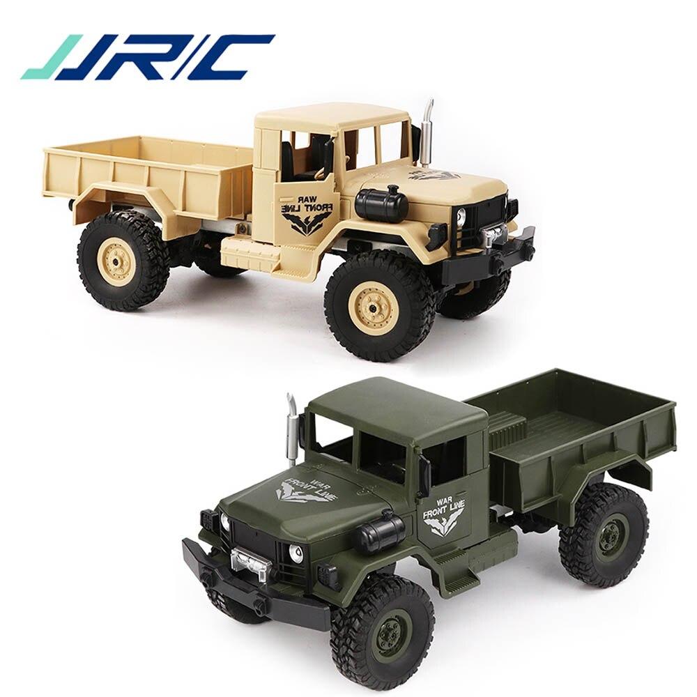 JJRC Q62 Electric RC Car 4WD Off Road Military Trunk Rock Crawler 2 4GHz 1 16