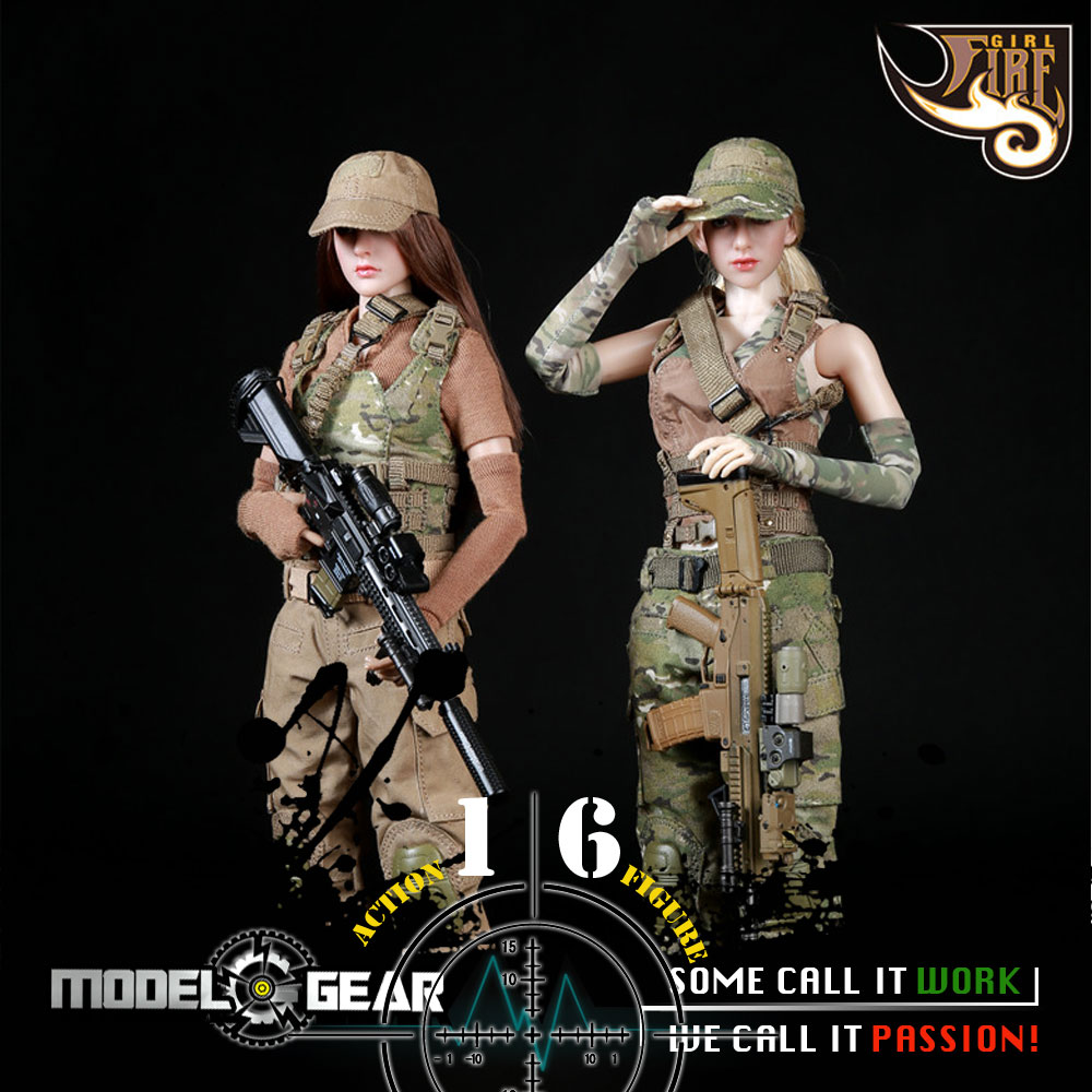 1/6 Scale Fire Girl Toys FG003 FG004 Female Tactical Shooter Uniform Set ACTION FIGURE MODEL TOY набор сверл по металлу kraftool expert 29650