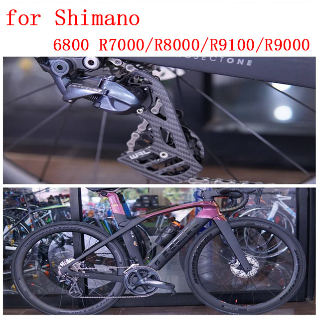 Bicycle carbon fiber ceramic rear derailleur pulley 17T road bike for Shimano 6800 R7000 R8000 R9100 R9000 bicycle accessories-in Bicycle Derailleur from Sports & Entertainment    1