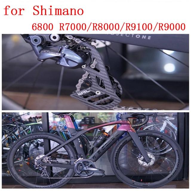 Vélo en fiber de carbone en céramique arrière dérailleur poulie 17 T vélo de route pour Shimano 6800 R7000 R8000 R9100 R9000 accessoires de vélo