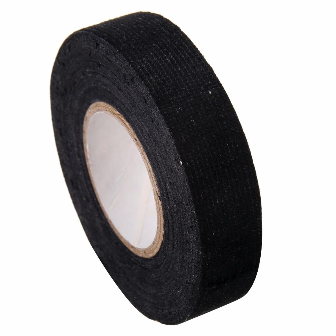 1 Pc Schwarz Klebstoff Kabel Schutz Stoff Band Webstühle Kabelbaum Tuch 19mm X 15 M