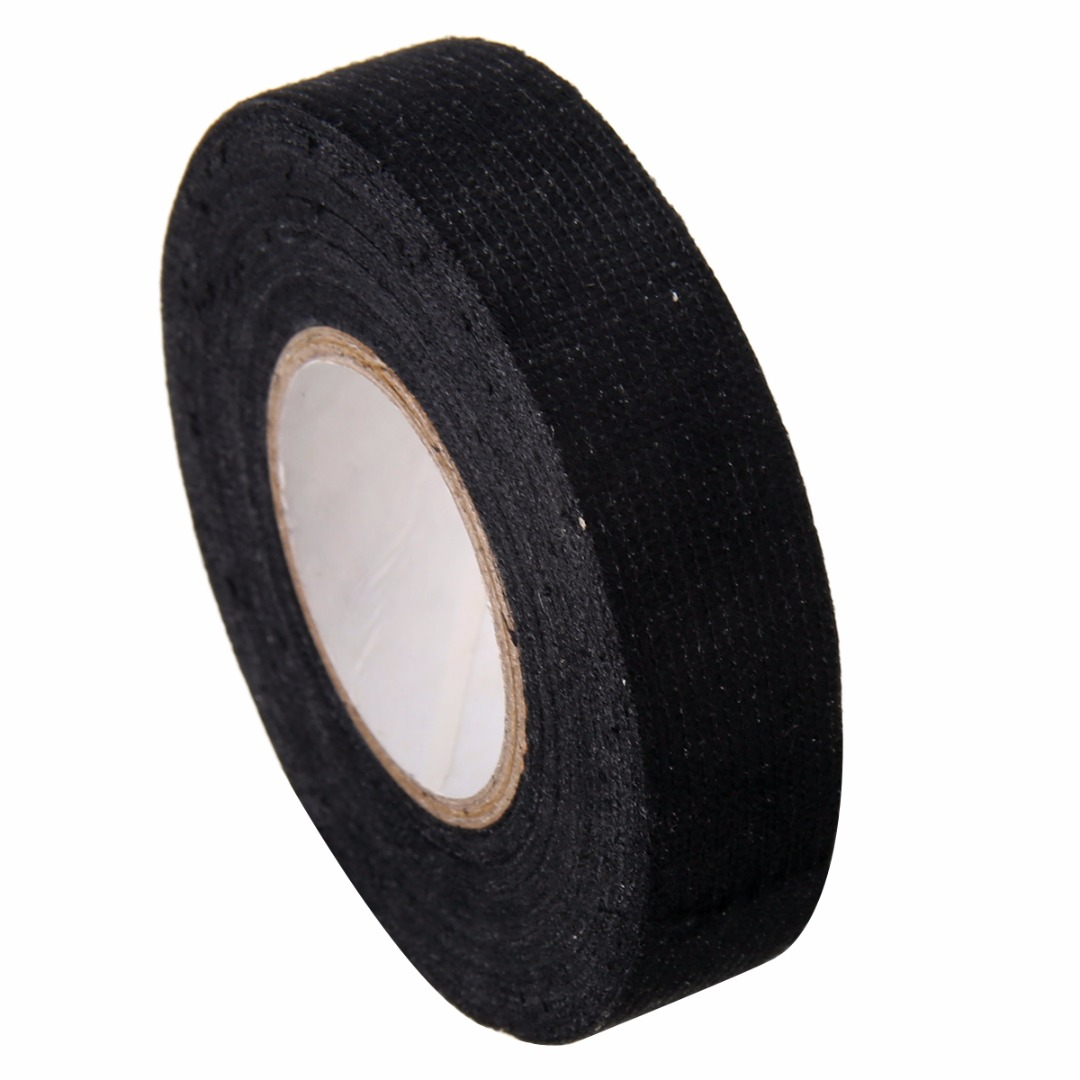 1pcs 19mmx15m fabric cloth tape automotive wiring harness glue high 1pc black adhesive cable protection fabric tape looms wiring harness cloth 19mm x 15m 1pcs 19mmx15m
