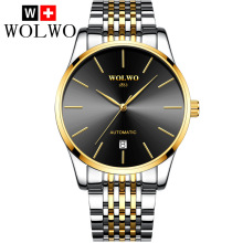 WOLWO Automatic Watch Men Mechanical Watches Fashion Brand Sapphire Relogio Masculino 100m Waterproof  Men Clock mechanical watch men top fashion brand burei hour sapphire genuine leather business males clock waterproof watches hot sale gift