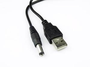 Image 5 - Cable 80cm Puerto USB a DC 2.0 2.5 3.5 4.0 5.5mm 5V DC Barrel Jack Cable de alimentación Conector Negro para lámpara LED u otro equipo