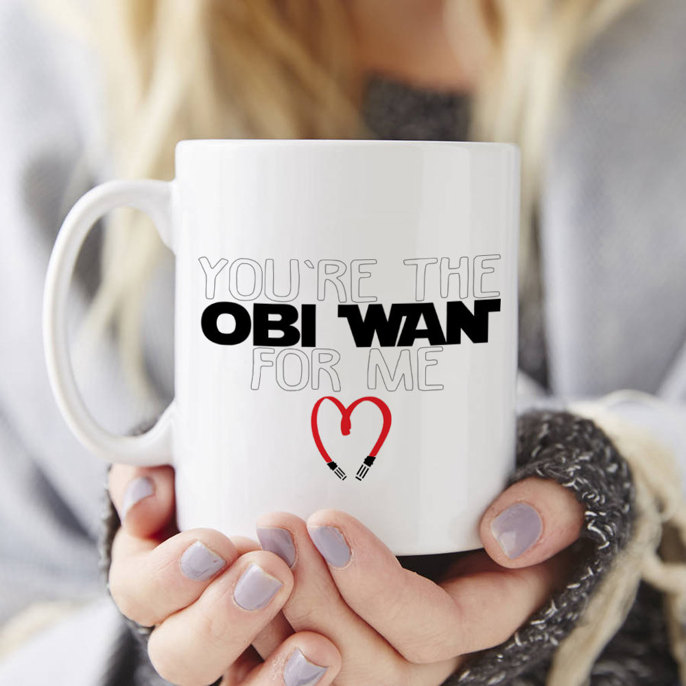 Youre the Obi Wan for me Mug, star wars mugs Tea art milk wine beer friend gifts novelty Anniversary