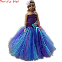 PRINCESS TUTU Mermaid Ariel Costume Halloween Girls Dresses Flower Kids Birthday Party Dress Fancy Girl Clothes Vestido K033