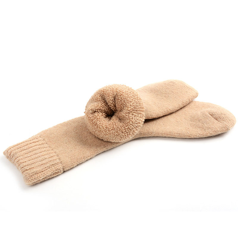 Mens Wool Cashmere Socks Heavy Thick Winter Warm Sock Solid Comfortable High Quality Casual Male Soft Crew Thermal Socks