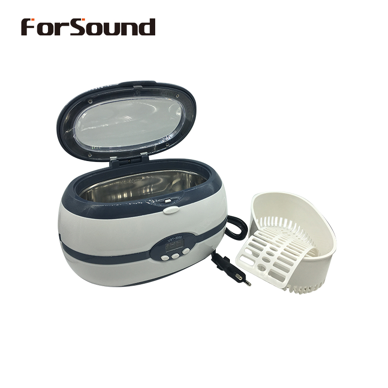 600ml Digital Ultrasonic Cleaner Cleaning Machine Device for Siemens Hearing Aid Earmoulds Glasses Watch Jewelry with