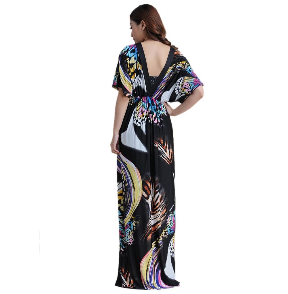 Boho Print Maxi Dress 6XL 17