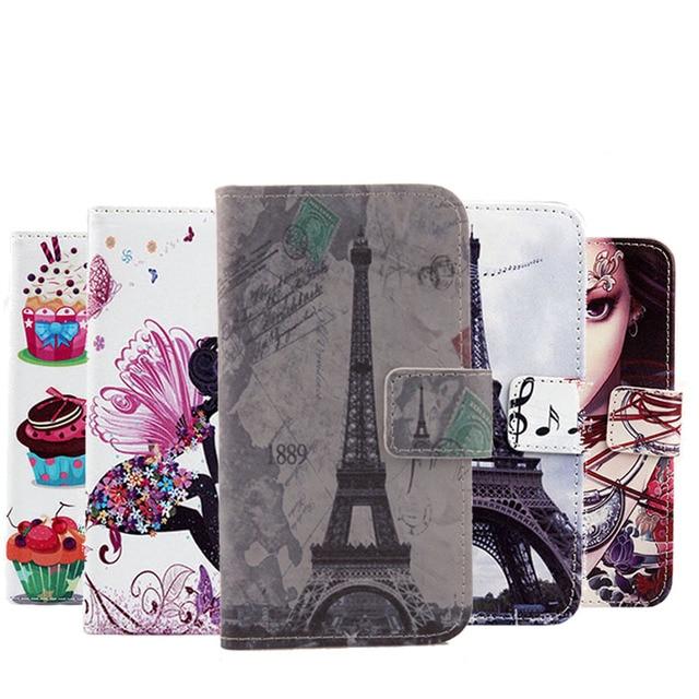 AiLiShi offre spéciale Flip PU étui en cuir pour Prestigio Muze K5 étui de haute qualité dessin animé peint housse de protection en Stock