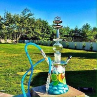 Crown molding shisha hookah bowl silicone tobacco pipes hookah accessories Stainless steel water bottles on The glass hookah