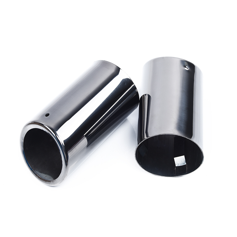 Black Pipes Tip 1 Pair Titanium Exhaust for BMW E90 E92 325 3Series 06 10 2018|Mufflers| |  - title=