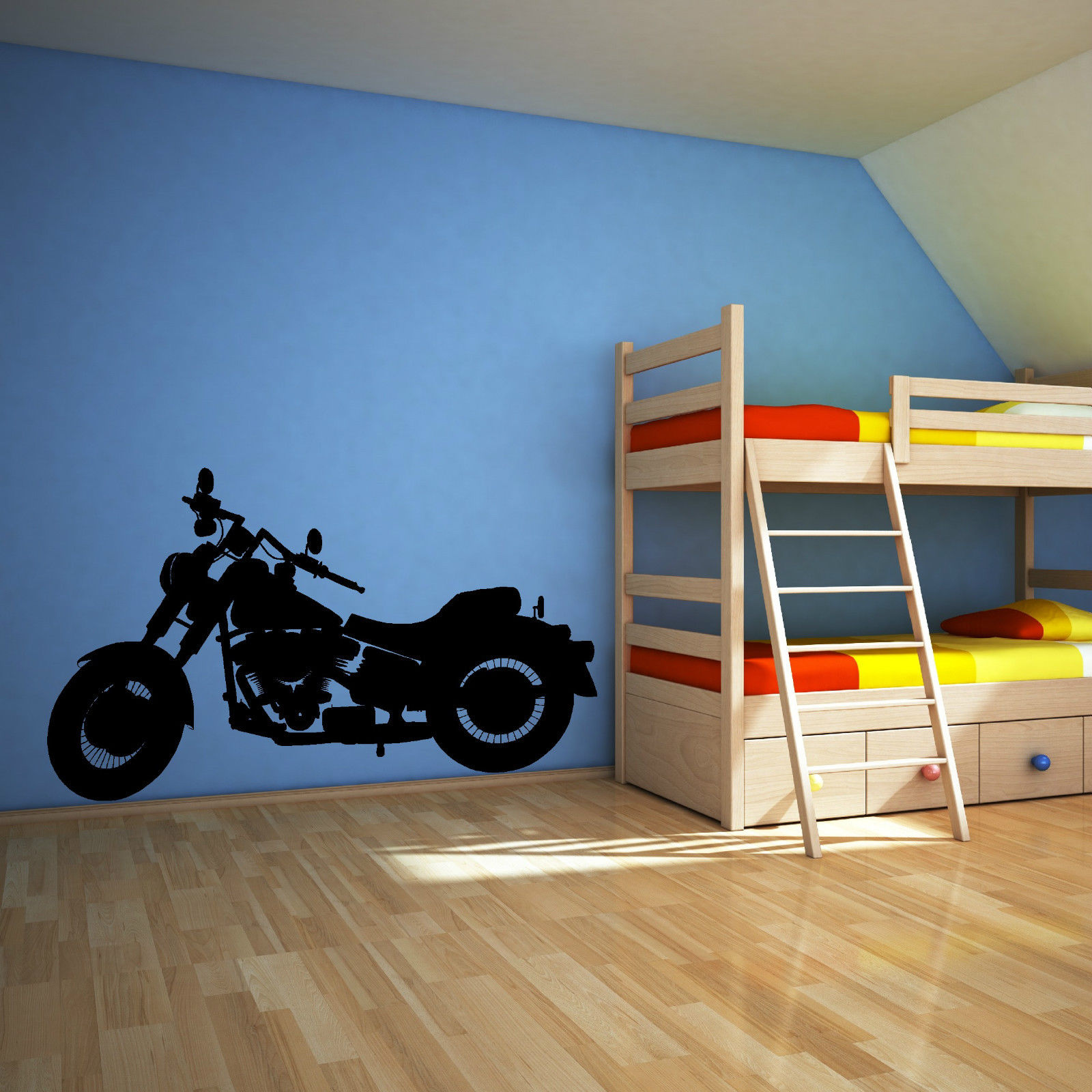 Stickers Decoration Porte Interieur Us 14 99 G142 Harley Davidson Motorbike Chopper Vinyl Wall Art Sticker Decal Children Room Wall Stickers Decoration Mural For Home Decor In Wall