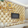 Beibehang Large Custom Wallpaper High Grade Leather Soft Bag Jewelry Flower Pattern Living Room TV Wall