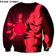Plstar Космос Классический Аниме Драконий жемчуг Z 3D Толстовка Goku/Majin Буу печати Crewneck Пуловеры Для женщин Для мужчин Повседневная Толстовка