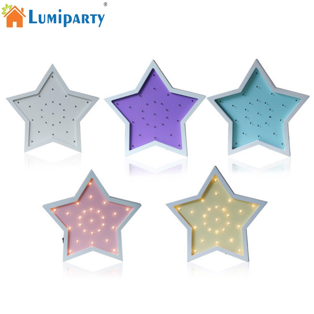 LumiParty Retro Wooden 5-pointed Star LED Night Light Lamp Creative Desk Lamp Home Decoration Children 's Birthday Gift mipow btl300 creative led light bluetooth aromatherapy flameless candle voice control lamp holiday party decoration gift