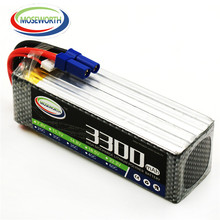 MOSEWORTH RC Lipo Battery 22.2v 6S 35C 3300mAh For RC Aircraft  Helicopter Drones Quadcopter Boat Car Airplane Li-ion Battery 6S tcb rc drone lipo battery 4s 14 8v 2200mah 25c for rc airplane car helicopter akku 4s batteria cell free shipping