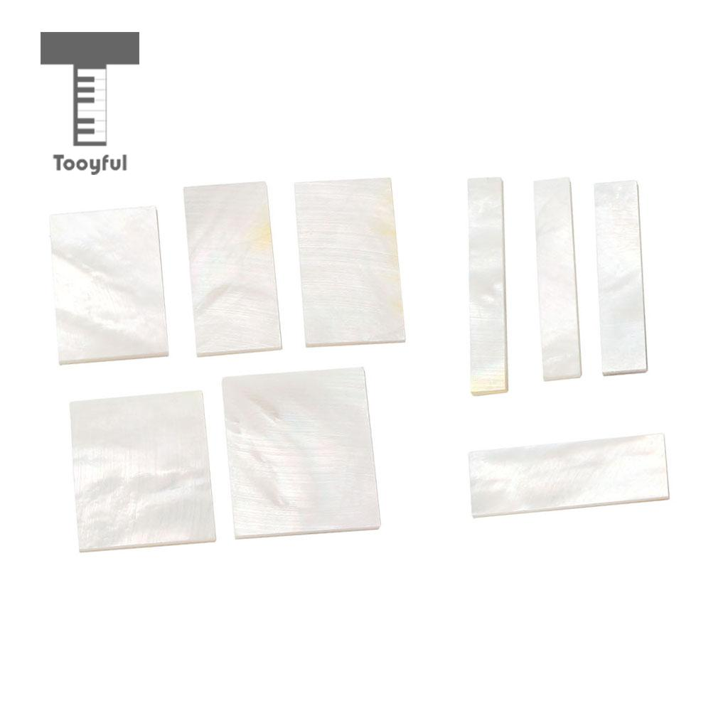 Tooyful DIY Inlays Material White Shell Block for Guitar Fingerboard Fretboard Neck rak dinding minimalis diy