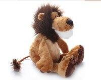 Yaratıcı sevimli dolması hayvan aslan peluş oyuncaklar orman aslan bebek doğum günü hediyesi yaklaşık 35 cm