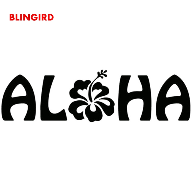BLINGIRD 15.4cm*43cm Hawaii Flower Meaning Love Funny Decal Car Stickers  Exterior Accessories Car