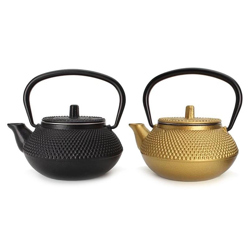 Haute Qualité En Fonte Théière Japonaise Tetsubin Thé Pot Bouilloire Drinkware Outils 300 ml Kung Fu Infusers En Acier Inoxydable Filtrer Filtre