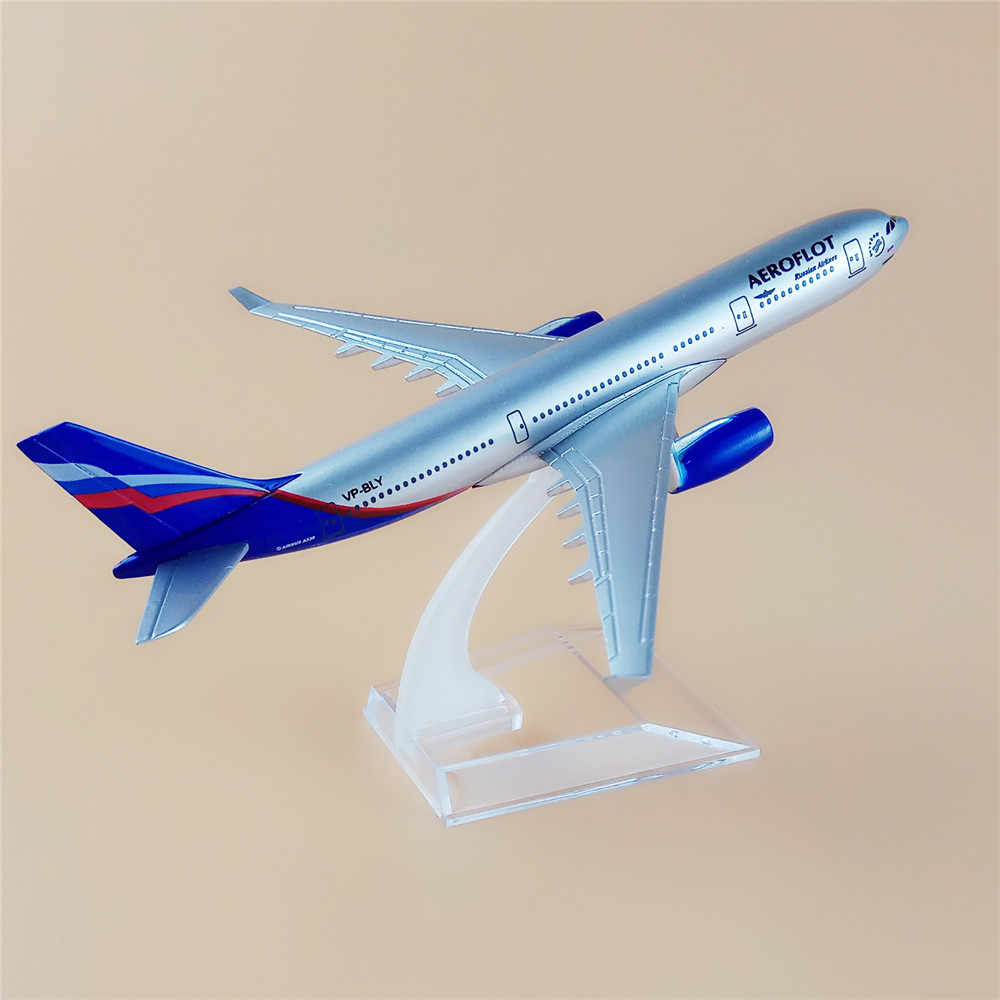 16cm Russian Airlines Airbus 330 A330 Airways Airplane Model Plane Alloy Metal Air Aeroflot With Stand Aircraft Kids Gift