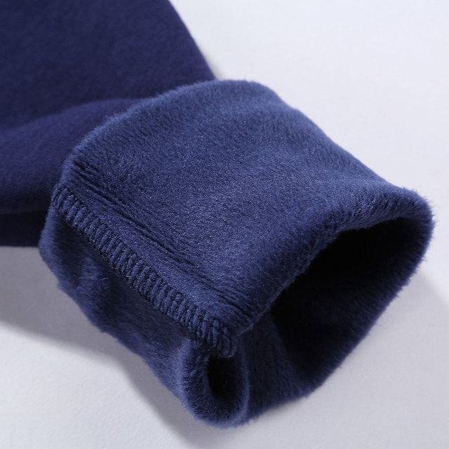 2020 Autumn Winter Style Men Home Leisure Velvet tshirt Warm Thermal Long Sleeve Men's t-shirt Cotton Big Size 5XL Male Tops Tee Others Men's Fashion