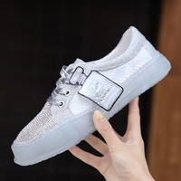 YRRFUOT Women's Fashion Shoes Colorful Diamonds Casual Shoes Women2019New Spring Zapatos Mujer Outdoor Wild Light Women Sneakers