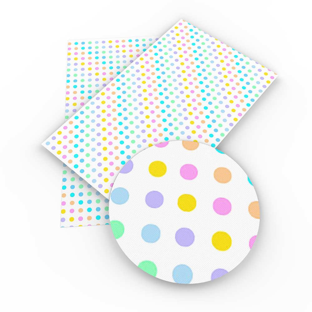 David accessories 20*34cm dots Faux Synthetic Leather Fabric DIY Home Textile Decorative knotbow Bags,c3602