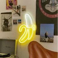 Неоновый свет неоновая вывеска панель ночник USB Powered INS форма Романтическая свадьба украшение для вечеринки Фея лампа крыло банан