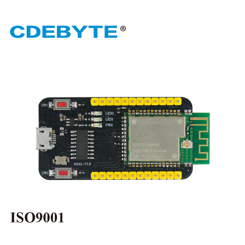 E73-TBA Test Board Small Size Bluetooth ARM NRF52810 2.4Ghz 2.5mW IPX PCB Antenna IoT Uhf Wireless Transceiver SMD Transmitter