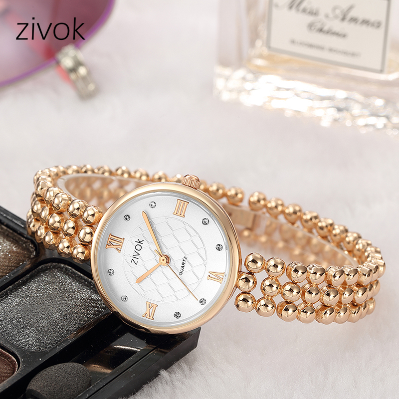 zivok Fashion Women Watches Relogio Feminino Rose Luxury Quartz Women Bracelet Watch Clock Ladies Lovers Wrist Watch Hour Time zivok fashion brand women watches luxury red lovers bracelet wrist watch clock women relogio feminino ladies quartz wristwatch