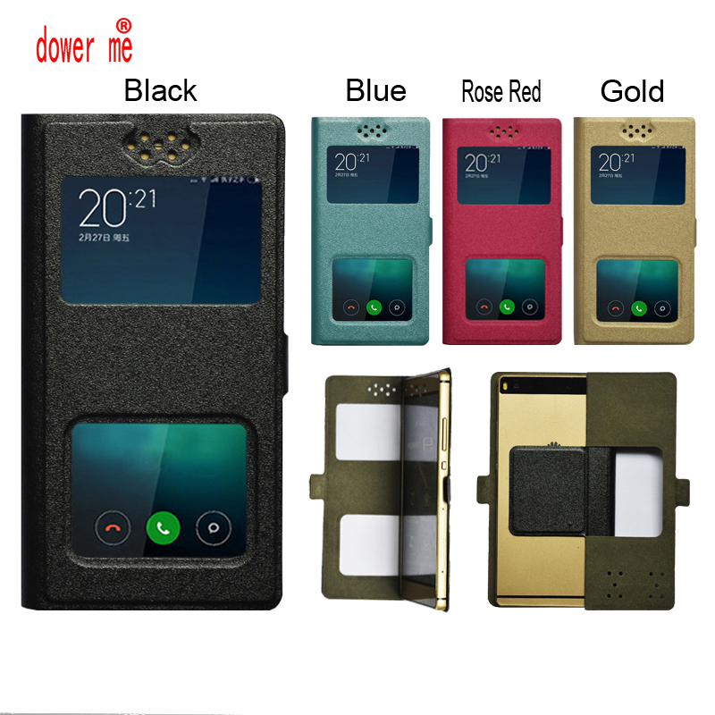 dower me New Dual Window Universal Flip PU Leather Case Cover For Sharp Android One S3 Phone In Stock N3