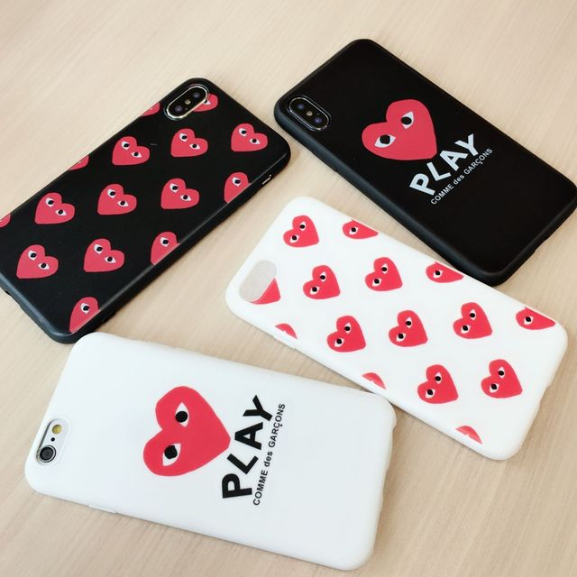 Japan Comme des GARCONS play phone case for iPhone X 6 6S...