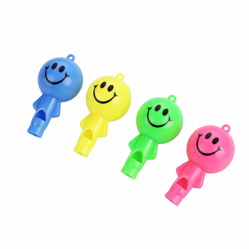12PCS Emoji Whistle with String kids happy birthday party favor baby shower  souvenir baptism gift girl boy