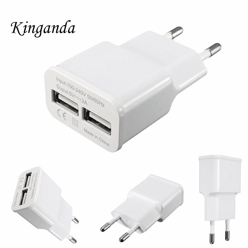 2Port USB Charger Adapter EU Plug for iPhone X 8 7 iPad Wall Charger for Samsung S9 Xiaomi