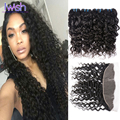 Indian Water Wave With Frontal 4 Bundles With Closure Indian Curly Hair With Frontal Indian Water Wave Virgin Hair With Closure