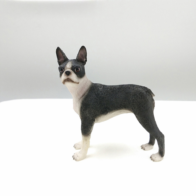 US $29 0 |Discount Sale Resin Craft Figurine Artificial Arts Boston Terrier  Resin Crafts For Home Decoration-in Figurines & Miniatures from Home &