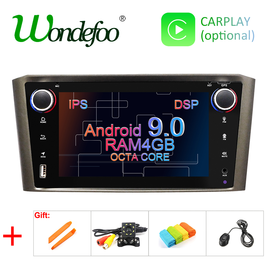 DSP IPS 4G 32G 8CORE Android 9.0 Car navigation For Toyota Avensis T25 2002-2008 GPS stereo audio radio no dvd player
