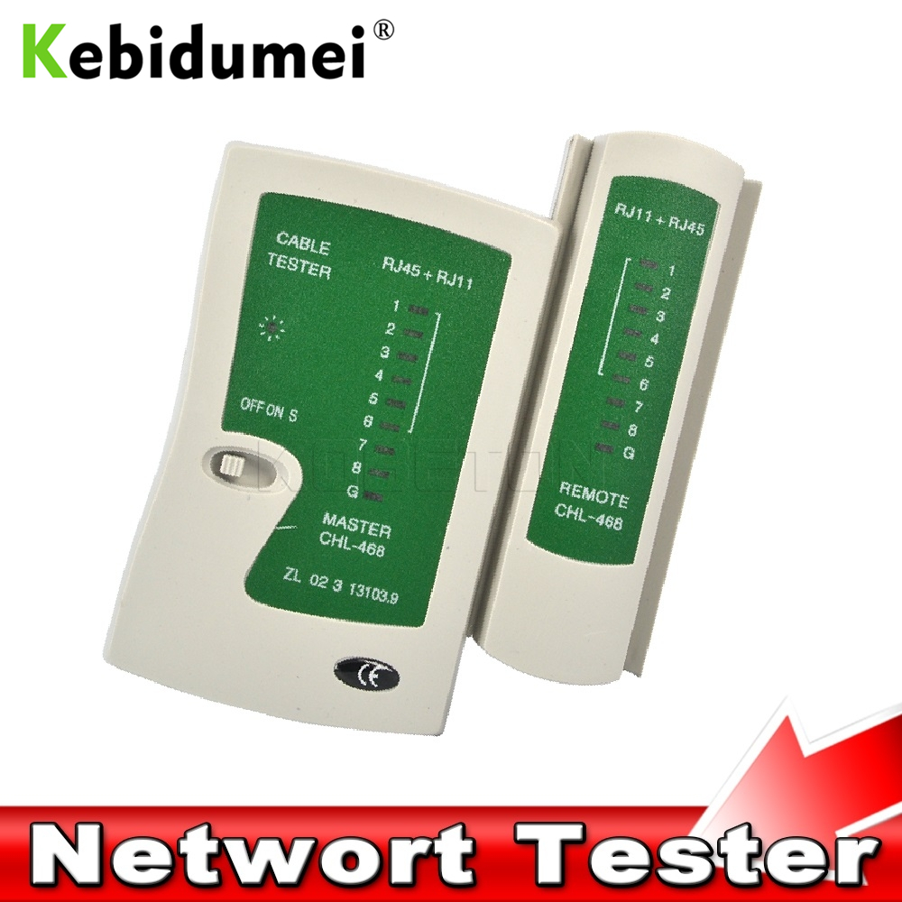 Kebidumei Professional Network Cable Tester RJ45 RJ11 RJ12 CAT5 UTP LAN Cable Tester Detector Remote Test Tools Networking(China)
